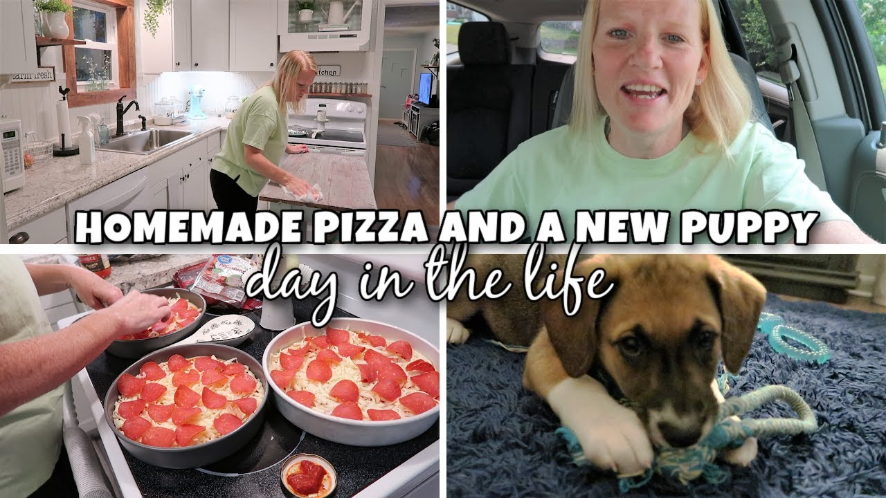 HOMEMADE PIZZA AND A NEW PUPPY / COPYCAT PIZZA HUT PIZZA / DOG HAIRCUTS AND A NEW FUR NEICE