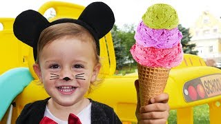Babies Play with Yummy Ice Cream | Nursery Rhymes & Kids Songs - LETSGOMARTIN song for kids