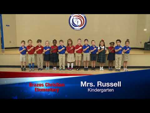 Daily Pledge-Brazos Christian School-Mrs. Russell