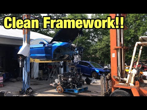 Rebuilding My Totaled Wrecked 2018 Ford Mustang GT Part 6 From Copart Salvage Auction