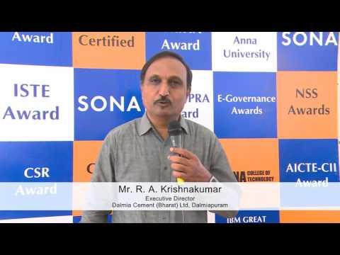 Image result for R.A. Krishnakumar, Executive Director, Dalmia Cement (Bharat) Ltd, Dalmiapuram