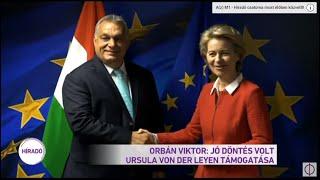 Orbán Viktor Jó döntés volt Ursula von der Leyen támogatása