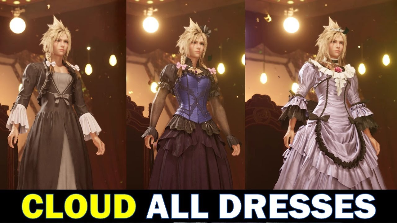 Cloud All Dresses and How to get them   Final Fantasy 20 Remake FF20  Chapter 20