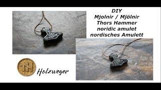 Nordic amulet - mjolnir - Soapstone carving - Speckstein bearbeiten - DIY - Holzweger