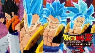 Gogeta Super Saiyajin Blue Form´s Pack - Dragon Ball Z Budokai Tenkaichi 3 (MOD)