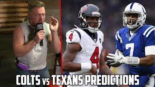 Pat McAfee's Colts vs Texans Prediction