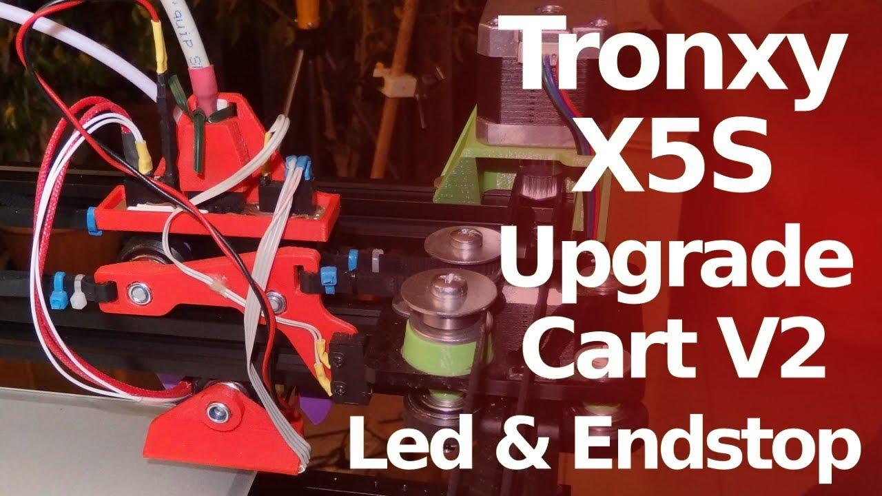Tronxy X5S Upgrade Carts V2 - Endstop -Leds - Connector base