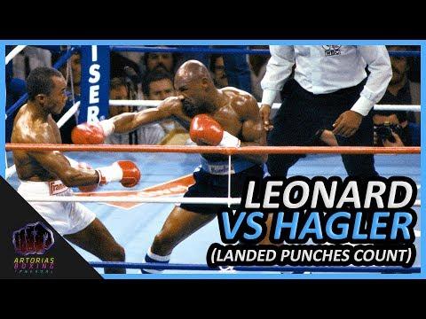 Sugar Ray Leonard Vs Marveouls Marvin Hagler (Landed Punches Count | 60 FPS)
