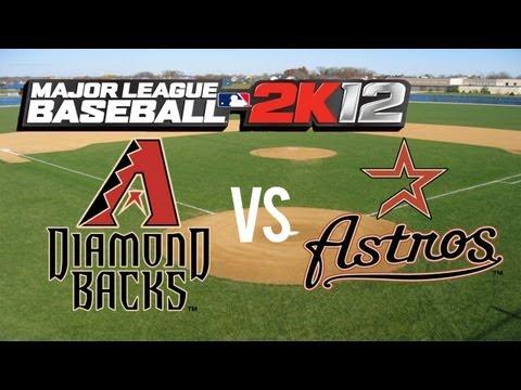 Major League Baseball 2K12 Arizona Diamondbacks vs Houston Astros - Close Game