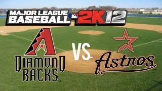 Major League Baseball 2K12 Arizona Diamondbacks vs Houston Astros - Close Game