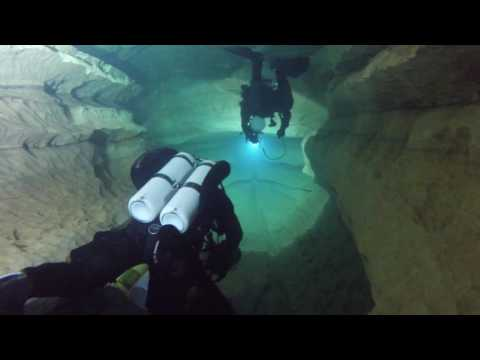 Cave diving in France: Emergence du Ressel