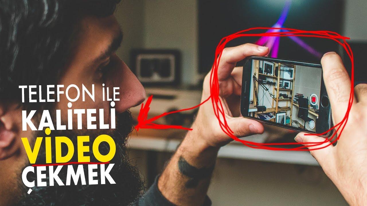 Cep Telefonu ile KALİTELİ VİDEO NASIL ÇEKİLİR ?  Youtube eğitim