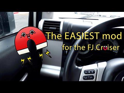 The EASIEST FJ Cruiser Mod:  Magnet Board AC Vent Panels
