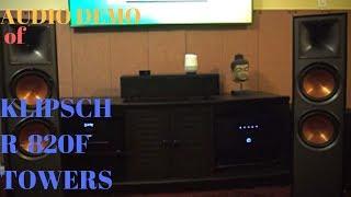 klipsch r-820f Tower Speakers Sound Demo(Classic Rock)