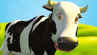 Repeat youtube video Mrs Cow - The Farm Song for Kids, Children's Music