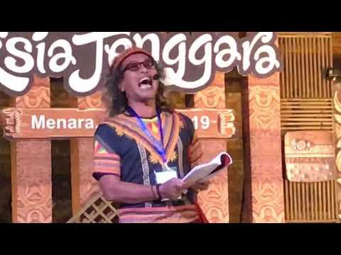 Aksi Fikar W Eda Di Panggung Penyair Asia Tenggara.