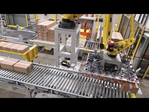 Automated Labeling And Palletizing, Courtesy Of StrongPoint Automation