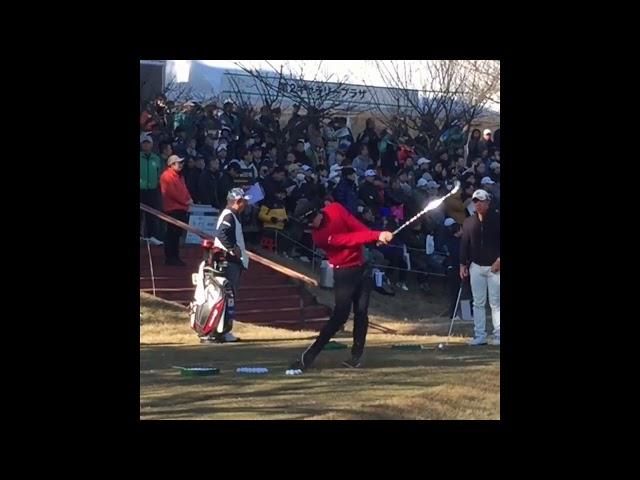 【後ろの人は前倒し?】石川遼(Ryo Ishikawa)ゴルフスイング スローモーションあり