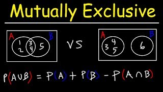 Probability of Mutually Exclusive Events With Venn Diagrams