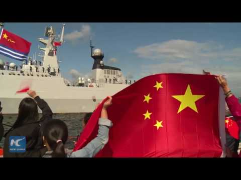 Chinese naval fleet pays maiden visit to Latvia