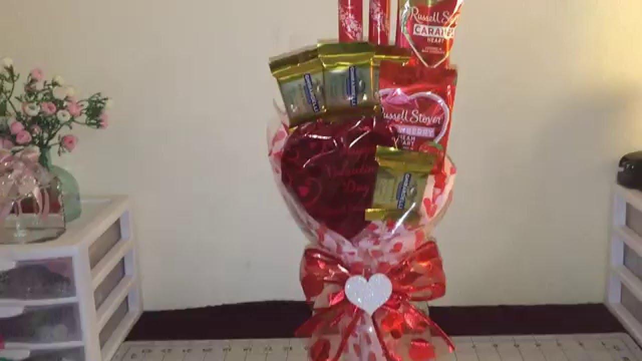 Valentine S Day Chocolate Bouquet Diy Youtube