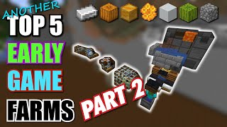 MINECRAFT 5 EASY EARLY GAME FARMS EVERY WORLD SHOULD HAVE!
