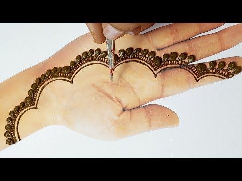 Eid Special Mehndi Design 2019 - New Easy Stylish Mehndi Design for Hand -  - आसान मेहँदी डिज़ाइन