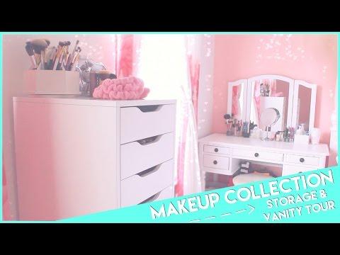 My Makeup Collection, Storage &Vanity Tour�