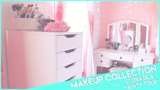 My Makeup Collection, Storage &Vanity Tour♡2015