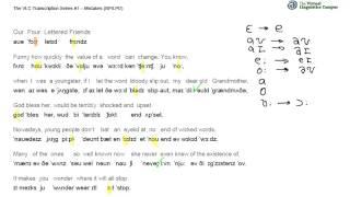 Linguistic Data Analysis - Phonemic Transcription, VLC #1 (Error Analysis)