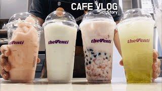 Cafe Vlog/카페 브이로그/더벤티 복숭아 크러쉬,…