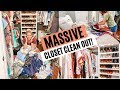 EXTREME CLOSET CLEAN OUT // CLEANING MOTIVATION, DECLUTTERING, & ORGANIZING // Amy Darley
