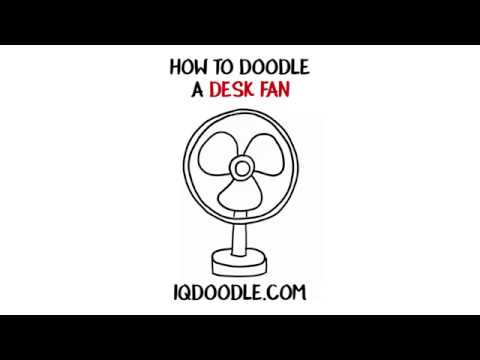 How to Draw a Desk Fan (drawing tips)