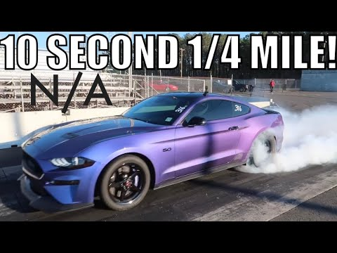 UNREAL: N/A 2018 MUSTANG GT RUNS 10SECOND 1/4 MILE PASS!