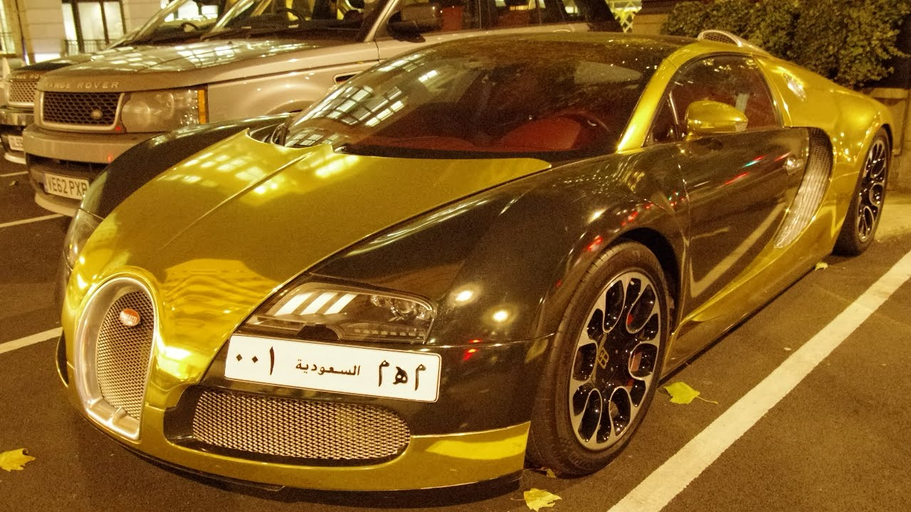 Gold Chrome Bugatti Veyron GrandSport - In London For ...