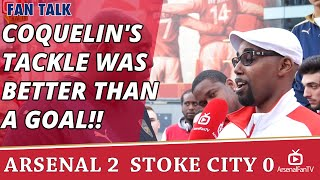 Coquelin's Tackle Was Better Than A Goal!!| Arsenal 2 Stoke 0