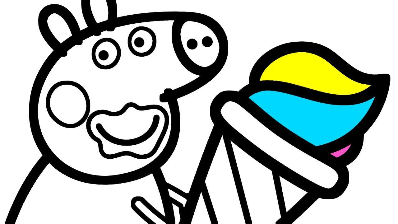 Свинка Пеппа и Мороженое | Рисование для Детей - YouTube