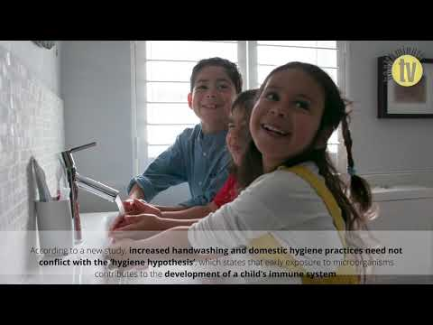 VIDEO: Handwashing and domestic hygiene practices should not impair childhood immunity, study shows