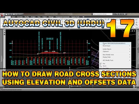 How to Draw Road Cross Sections Using Elevation and Offsets