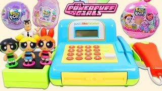 Powerpuff Girls Blossom, Buttercup, & Bubbles Shop For Surprise Toys at the Cashier Playset!