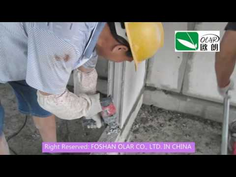 Foshan Olar Fiber Cement EPS Sandwich board Iron Nail installed