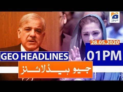 Geo Headlines 01 PM | 28th May 2020