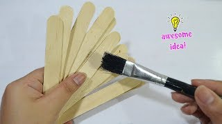 Awesome Idea with popsicle sticks|how to make cute key holder with popsicle sticks