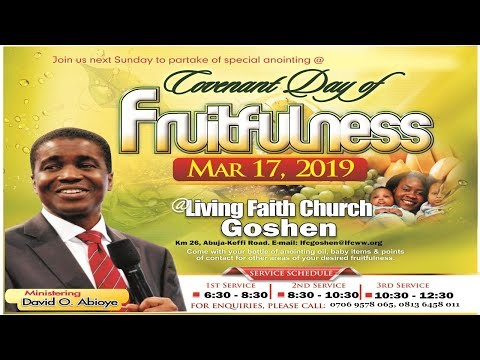 COVENANT DAY OF FRUITFULNESS |3RD SERVICE| MARCH 17, 2019