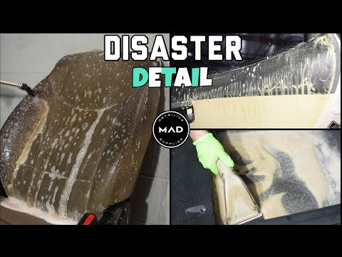 Deep Cleaning the NASTIEST Car Ever!! | Extreme Interior Extraction | Insane Transformation Detail