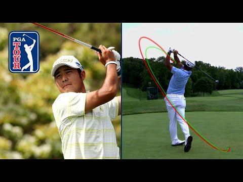 Hideki Matsuyama's swing in slow motion (every angle)