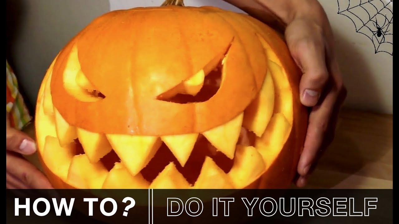Kürbis Schnitzen Halloween Special   How To? - YouTube