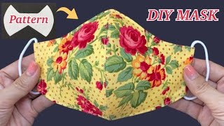 Diy Breathable Face Mask Easy Pattern Sewing Tutorial | How to Make Fabric Face Mask | P&K Handm