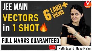 Vector Algebra IIT JEE in 1 Shot By Neha Ma'am | JEE Main Maths Super Revision | Vedantu Math