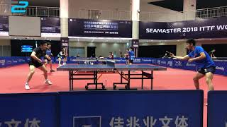T2's TImo Boll and Xue Fei training | Hong Kong and Japan Open 2018!